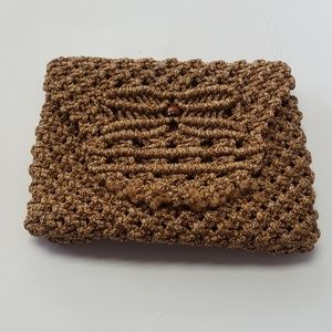 Vintage hand- knitted purse